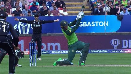 CWC19: NZ v SA - South Africa post 241/6, first innings highlights