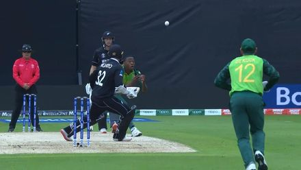 CWC19: NZ v SA - Rabada gets Munro caught and bowled