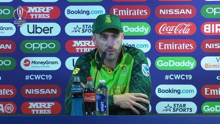 CWC19: NZ v SA – Faf du Plessis press conference