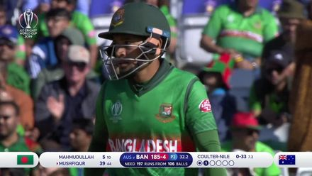 CWC19: AUS v BAN - Bangladesh fell short in their monster chase, second innings highlights