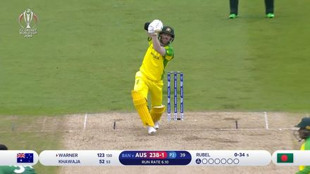 Nissan POTD: David Warner hits a bullet straight six off Rubel