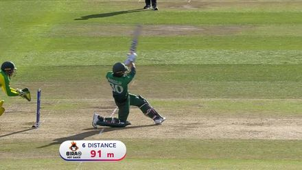 CWC19: AUS v BAN - Mahmudullah hits his second six in three balls off Zampa