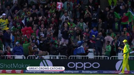 CWC19: AUS v BAN - The crowd have been on good form... with their fielding