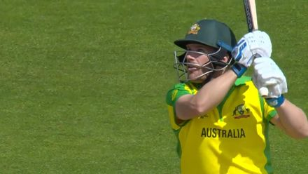 CWC19: AUS v BAN - Finch hits Mortaza over cover for the first six of the match