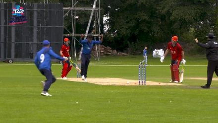 ICC Men's T20 World Cup Europe Final 2019, Jersey v Italy: Jersey's Ben Stevens' unlucky run-out