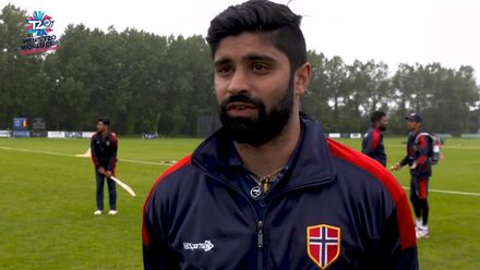 ICC Men's T20 World Cup Europe Final 2019, Norway v Guernsey: Norway's Pratik Agnihotri speaks