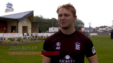 ICC Men's T20 World Cup Europe Final 2019, Norway v Guernsey: Josh Butler speaks