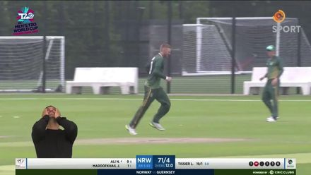 ICC T20 World Cup Europe Qualifier 2019 Finals: Action from Norway v Guernsey leads to sign language face palm