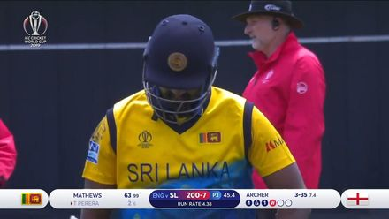 CWC19: ENG v SL - Archer has Perera caught at third man