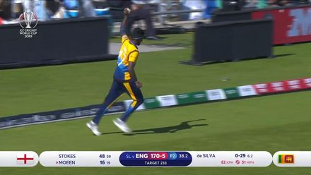 CWC19: ENG v SL - Moeen caught on the boundary
