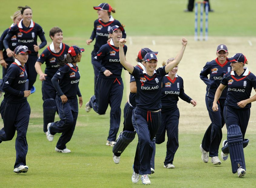 England women triumphed over New Zealand to clinch the 2009 title