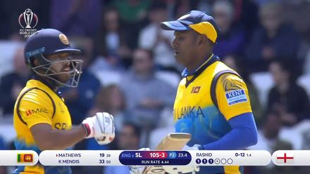 CWC19: ENG v SL - Mathews battles his way to 85