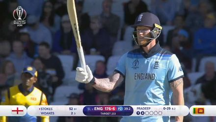 CWC19: ENG v SL - Stokes hits unbeaten 82 in vain
