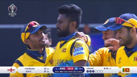 CWC19: ENG v SL - Udana reacts quickly to take return catch
