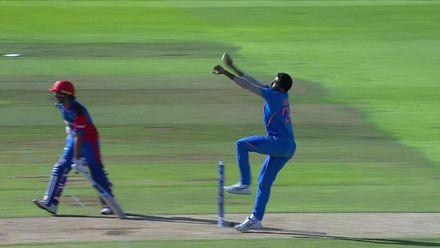 CWC19: IND v AFG - Nabi hits a six