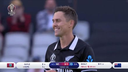 CWC19: WI v NZ - Boult's 4/30
