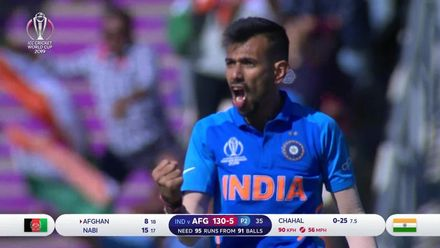 CWC19: IND v AFG - How the Afghanistan wickets fell