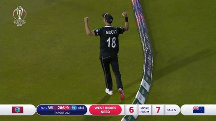 CWC19: WI v NZ - All 10 West Indies wickets
