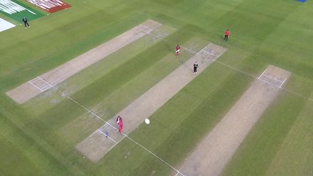 CWC19: WI v NZ - Bird's eye view of Gayle six