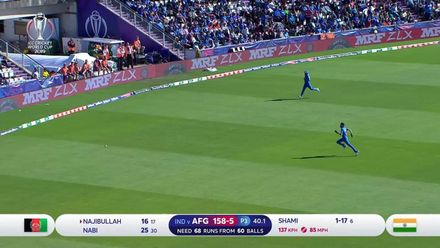 CWC19: IND v AFG - Afghanistan's run chase, highlights