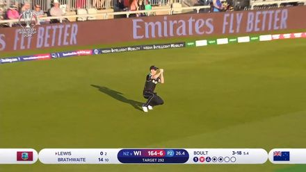 CWC19: WI v NZ - Lewis departs for 0