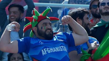 CWC19: IND v AFG - Gulbadin fan flex