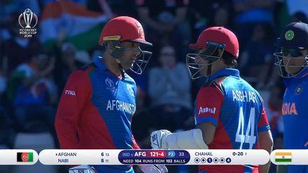 CWC19: IND v AFG - Mohammad Nabi batting highlights