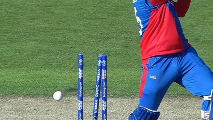 CWC19: IND v AFG - Aftab Ali bowled first ball