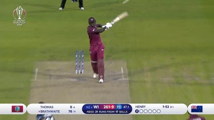 CWC19: WI v NZ - West Indies innings highlights