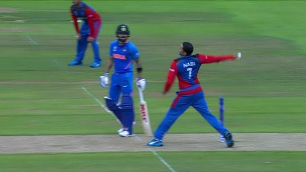 CWC19: IND v AFG - Rahul caught out off reverse sweep