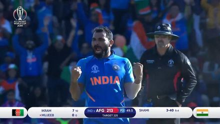 CWC19: Shami completes hat-trick, wraps up victory