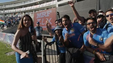 CWC19: IND v AFG - India fans celebrate their tight win