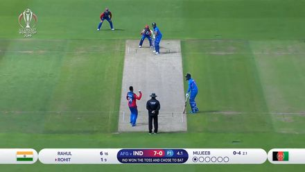 CWC19: IND v AFG - India held to 224/8 highlights