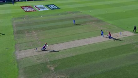 CWC19: IND v AFG - Run out chance
