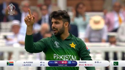 CWC19: Pak v SA - How the South African wickets fell