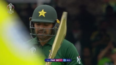 CWC19: Pak v SA - Haris Sohail is caught off a top edge
