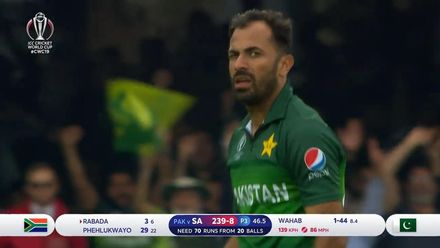CWC19: Pak v SA - Wahab Riaz took 3/46, highlights