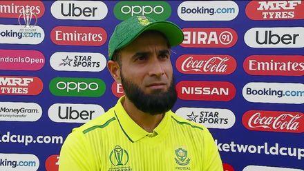 CWC19: Pak v SA - Imran Tahir gives his thoughts at the halfway stage