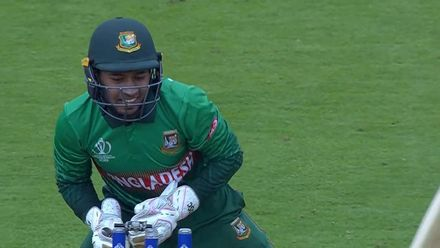Nissan POTD - Mushfiqur whips off the bails to remove Hashmatullah