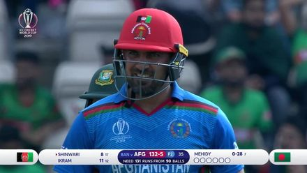 CWC19: BAN v AFG - Casual running sees the end of Ikram