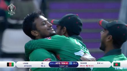 CWC19: BAN v AFG - Shakib becomes first Bangladeshi to take World Cup five-wicket haul