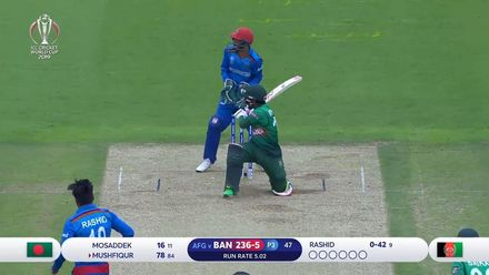 CWC19: BAN v AFG - Mushfiqur gets a well made 83
