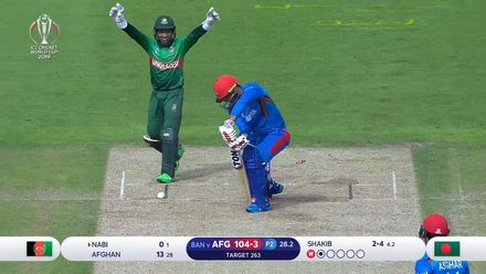 CWC19: BAN v AFG - Nabi becomes Shakib's second victim in the over