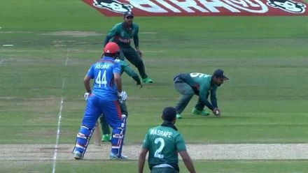 CWC19: BAN v AFG - Afghanistan wickets