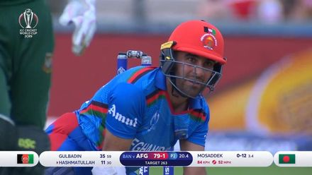 CWC19: BAN v AFG - Hashmatullah beaten by the turn