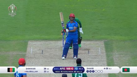 CWC19: BAN v AFG - Shakib takes a five-wicket haul with Najibullah scalp