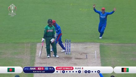 CWC19: BAN v AFG - Tamim is bowled by Nabi