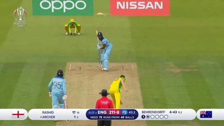 CWC19: ENG v AUS - Behrendorff completes maiden five-for