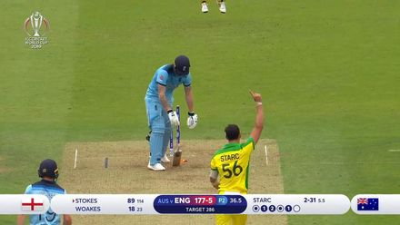 Nissan POTD - Starc dismisses Stokes with an outstanding inswinging yorker