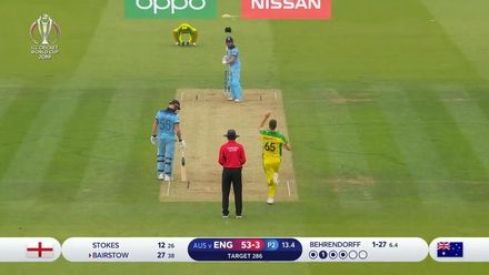 CWC19: ENG v AUS - Bairstow caught in the deep